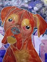 Cosmic Boxer Fine Art Print