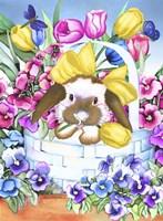 Basket Bunny Fine Art Print