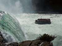 Horn Blower Cruising Below The Falls Fine Art Print