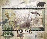 Vintage State Montana Fine Art Print
