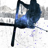 Extreme Skier 02 Fine Art Print