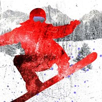 Extreme Snowboarder 01 Fine Art Print