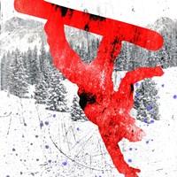 Extreme Snowboarder 03 Fine Art Print