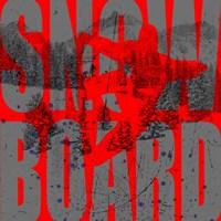 Extreme Snowboarder Word Collage Board Fine Art Print