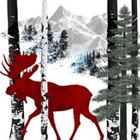 Winter Moose Fine Art Print