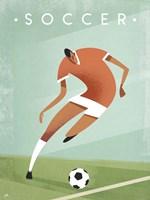 Vintage Soccer Fine Art Print