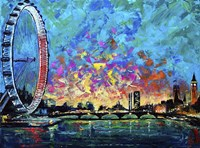 View with London Eye Fine Art Print