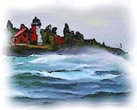 Ausable Lighthouse Fine Art Print