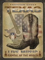 Austin Tex Music Fine Art Print