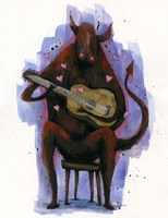 The Devil Plays The Blues Fine Art Print