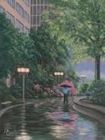 66 Plaza Stroll Fine Art Print