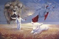 Lion And Lamb Fine Art Print