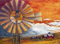 Standing Tall in the Autumn Sky Fine Art Print