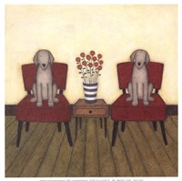 Two Dogs Fine Art Print