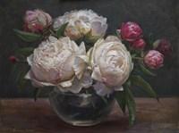 Peonies Bowl of Cream Fine Art Print