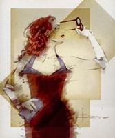Lady In Red Fine Art Print