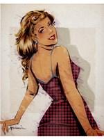Polka Dot Dress Fine Art Print
