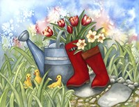 Tulips in Boots Fine Art Print