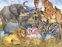 African Animals Fine Art Print