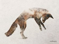 Jumping Fox Fine Art Print