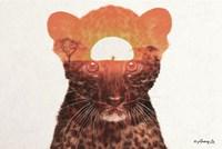 Leopard with Sun Fine Art Print