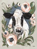 Vintage Frame Cow Fine Art Print