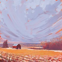 Slate Winter Sky Fine Art Print