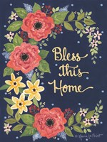 Floral Bless This Home Fine Art Print
