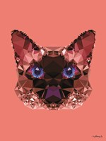 Geometric Cat Fine Art Print
