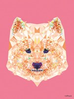 Geometric Samoyed Dog Fine Art Print