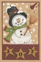 A Snowman's Joy Fine Art Print