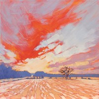 Blaze Winter Sky Fine Art Print