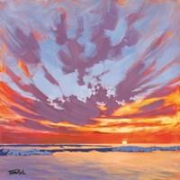Beach Break Sunset Fine Art Print
