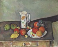Still Life with Milk Jug and Fruit Fine Art Print