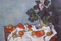 Still Life with Apples and a Pot of Primroses Fine Art Print