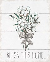 Blessed II Black Bow Fine Art Print