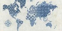Indigo Gild Map Maki - No Border Fine Art Print