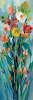 Tall Bright Flowers I Framed Print