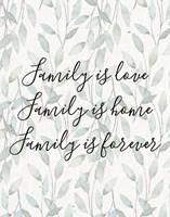 Family Is Love - Leaves Fine Art Print