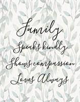 Family Speaks Kindly - Leaves Fine Art Print