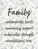Family Unbreakable Trust - Leaves Fine Art Print