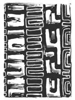 African Textile Woodcut I Fine Art Print
