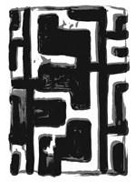 African Textile Woodcut III Fine Art Print