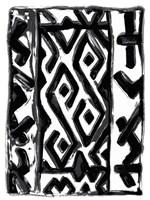 African Textile Woodcut V Fine Art Print