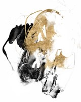 Black & Gold Splash II Framed Print