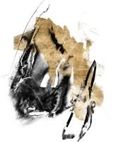 Black & Gold Splash IV Fine Art Print