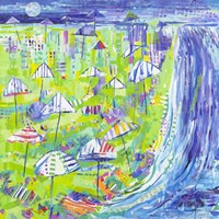 Coastal Fun Collage I Fine Art Print