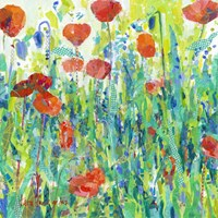 Stately Red Poppies III Fine Art Print