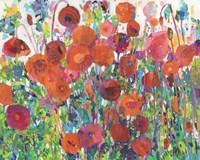 Vivid Poppy Collage III Fine Art Print