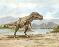 Dinosaur Illustration III Fine Art Print
